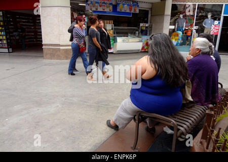 Tijuana. 6th May, 2015. Image taken on May 6, 2015 shows an overweight woman in a mall in Tijuana City, northeast - Stock Photo