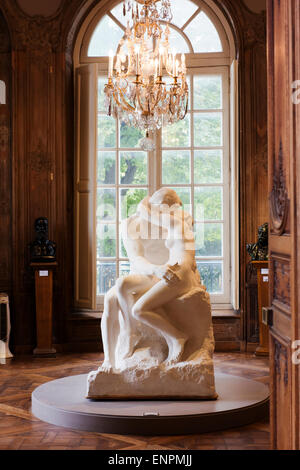 'The Kiss' in the Rodin museum. - Stock Photo