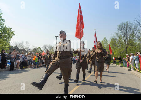 Toronto, Canada. 9th May 2015. Participants of Ceremonial Parade for 70 years anniversary of Victory Day (1945-2015) - Stock Photo