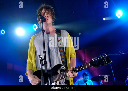 Toronto, Canada - 9th May 2015. Broncho with lead singer Ryan Lindsey  (pictured) performs at the 2015 Canadian - Stock Photo