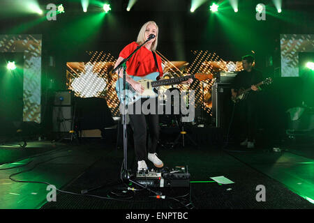 Toronto, Canada - 9th May 2015. Alvvays with lead singer Molly Rankin  (pictured) performs at the 2015 Canadian - Stock Photo