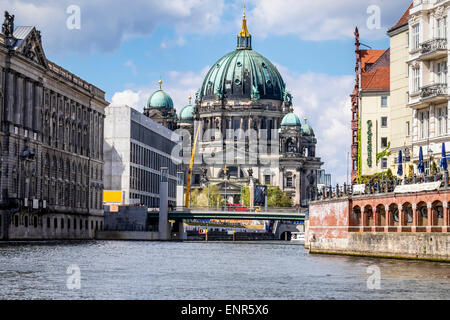Berlin Cathedral Berliner Dom exterior - Historic Protestant church on Museum Island - Listed High Renaissance Baroque - Stock Photo