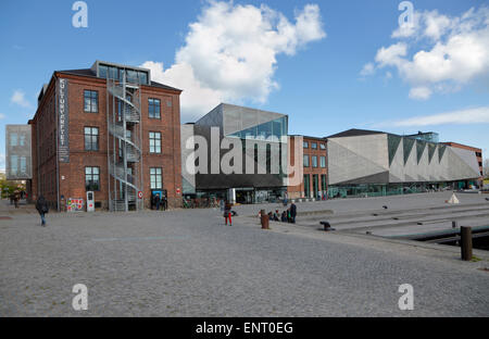 The Culture Yard on the waterfront in Elsinore / Helsingør, Denmark neighbouring the underground Danish Maritime - Stock Photo