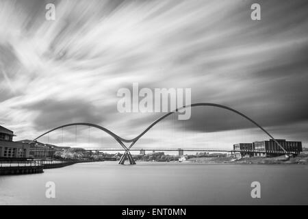 Infinity Bridge in Stockton on Tees, Teesside.
