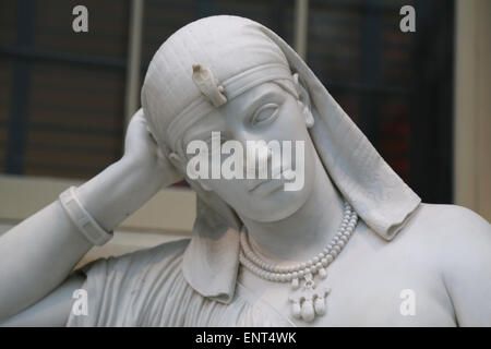 Cleopatra (69-30 BC). Queen of Egypt. Statue by William Wetmore Story (American, 1819-1895). Meditation on her suicide. - Stock Photo