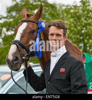 Badminton, Gloucestershire, UK.10th May, 2015. Great Britain's William Fox-Pitt and Chilli Morning are the 2015 - Stock Photo