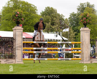 Badminton, Gloucestershire, UK.10th May, 2015. New Zealand's Jonathan Paget on Clifton Lush third  in The Mitsubishi - Stock Photo