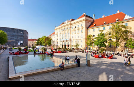 The Museumsquartier (MQ) of the city of Vienna, Austria. It is the eighth largest cultural area in the world - Stock Photo