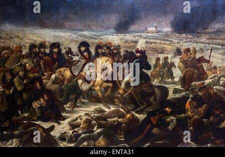 Napoleon Bonaparte on the battlefield of Eylau (February 0th 1807) 02/10/2013 - 19th century Collection - Stock Photo
