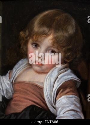 ActiveMuseum_0002965.jpg / A young girl Oil on canvas 25/10/2013  -   / 18th century Collection / Active Museum - Stock Photo