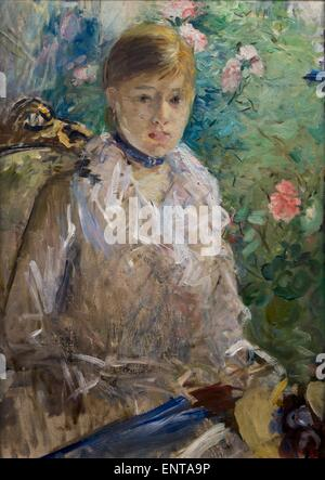 ActiveMuseum_0003006.jpg / Young lady seated in front of the window, called the summer Oil on canvas 25/10/2013 - Stock Photo