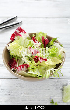 fresh salad mix in a bowl, food - Stock Photo