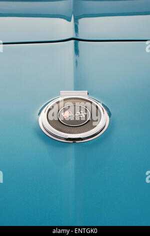 1966 Chevrolet Corvette stingray C2 Convertible gas cap. Classic American sports car - Stock Photo