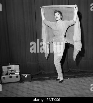 English jazz singer and actress Annie Ross, who appears in the show 'Cranks', poses at St Martins Theatre in West - Stock Photo