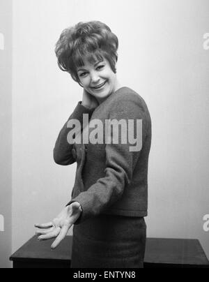 English jazz singer and actress Annie Ross, who is the star at the Establishment Club in London in place of American - Stock Photo