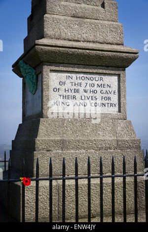 Cenotaph in Werneth Low Country Park - Stock Photo