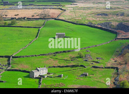 Farmhouse in Arkengarthdale, Yorkshire Dales National Park, North Yorkshire, England UK - Stock Photo