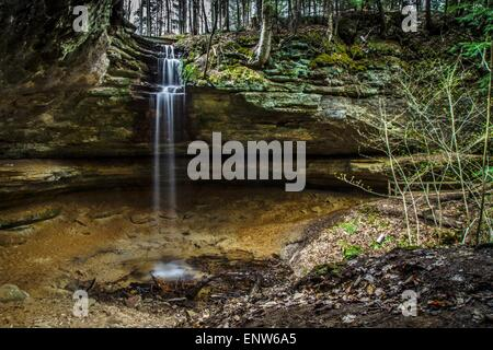 Waterfall Paradise. The Memorial Falls located in Munising Michigan. Munising is the gateway to Pictured Rocks and - Stock Photo