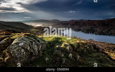 A View over Coniston Water in the UK Lake District - Stock Photo