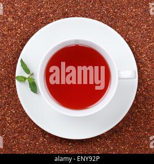 Rooibos Tee in einer Teetasse - Stock Photo