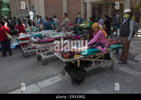 Kathmandu, Nepal. 12th May, 2015.12th May, 2015. A powerful earthquake shook Nepal on Tuesday, less than three weeks - Stock Photo