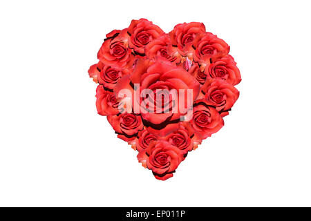 Red Roses · Herz: Rote Rosen   Symbolbild Liebe/ Valentinstag/ Heart: Red  Rose   Symbolic