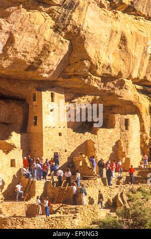 Cliff Palace,  Anasazi Indian, Mesa Verde National Park, Colorado - Stock Photo