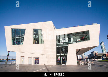 Part of Liverpool's UNESCO World Heritage site. New Pier Head ferry terminal for ferries across the River Mersey, - Stock Photo