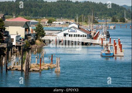 Mo's in Florence, Oregon on the Oregon Coast, USA - Stock Photo