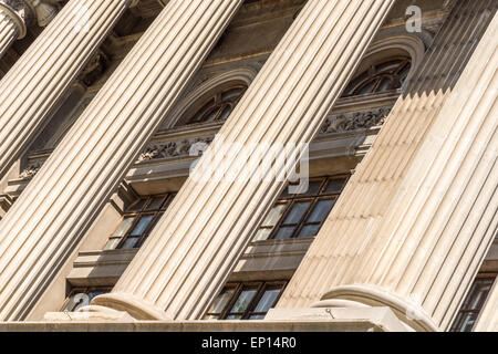 Stone Columns Of Justice Courthouse - Stock Photo