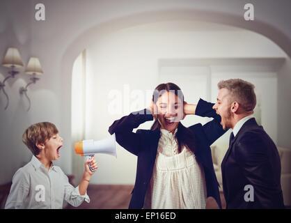 Family quarrels - Stock Photo