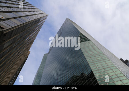 USA. New York city. Detail of skyscraper. Midtown Manhattan. - Stock Photo