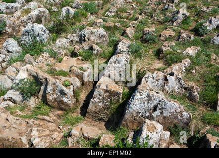 Limestone rocks in Slovak Karst National Park - Stock Photo