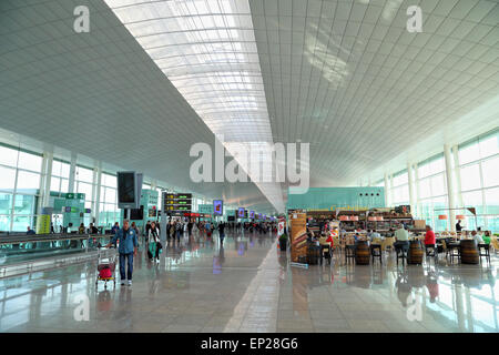 The new Terminal T1 at Barcelona El Prat Airport BCN - Stock Photo