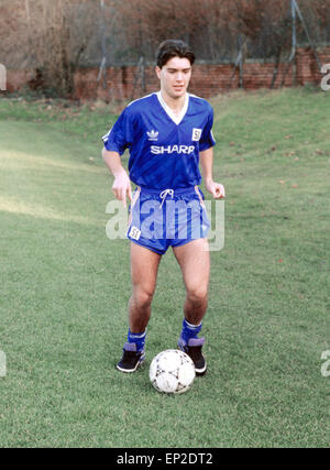 Manchester United youth team player Ben Thornley, November 1991. - Stock Photo