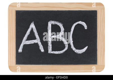 Die Buchstaben ABC auf einer Tafel - Stock Photo
