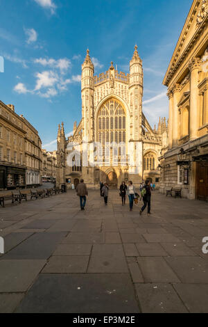 Bath Abbey City of Bath, Somerset - England - Stock Photo