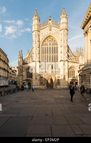 The Abbey Church of Saint Peter and Saint Paul, Bath, commonly known as Bath Abbey, is an Anglican parish church - Stock Photo