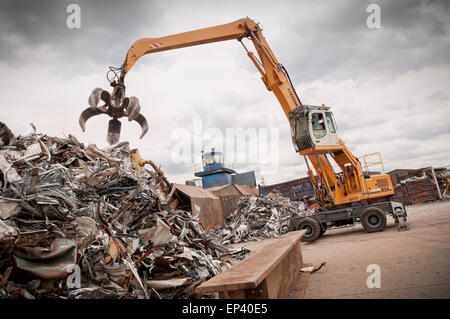 Metal recycling yard - Stock Photo
