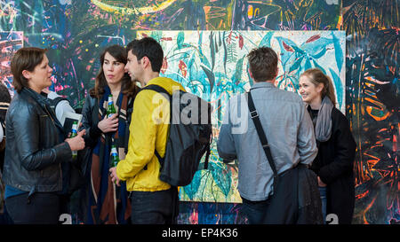 London, UK, 7 May 2015. Guests view 'Plant of Many Faces (The Bush Said Nothing)' by Nicholas William Johnson, Royal - Stock Photo