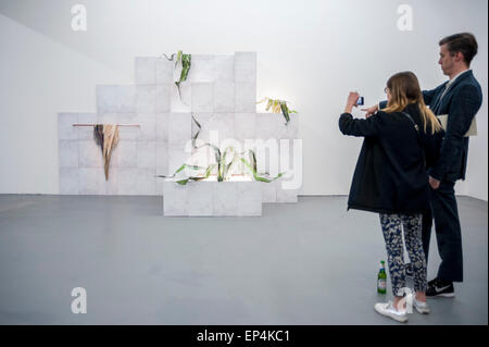 FILE: The winner of the Catlin Art Prize 2015 was named as Zhu Tian. London, UK. 7th May, 2015.   Guests view 'You - Stock Photo