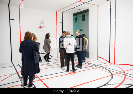 FILE: The winner of the Catlin Art Prize 2015 was named as Zhu Tian. London, UK. 7th May, 2015.   Guests view 'Bending - Stock Photo