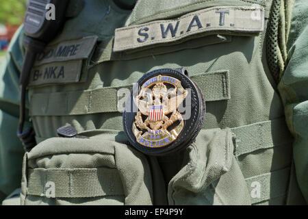US Park Police SWAT officer in uniform - Washington, DC USA - Stock Photo
