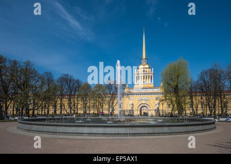 Admiralty building, Saint Petersburg, Russia - Stock Photo