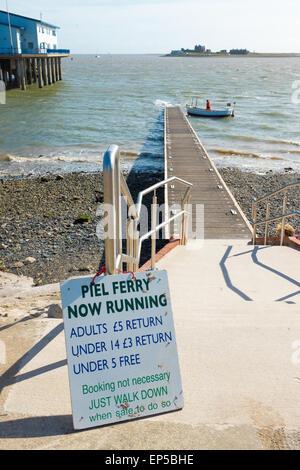 The Ferry to Piel Island from Roa Island, Barrow-in-Furness, Cumbria. - Stock Photo