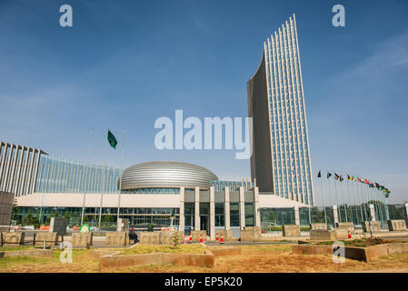 The African Union's headquarters building in - Stock Photo