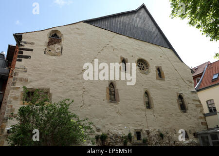 The Old Synagogue in Erfurt, Germany. The Jewish place of worship dates from around 1100. - Stock Photo