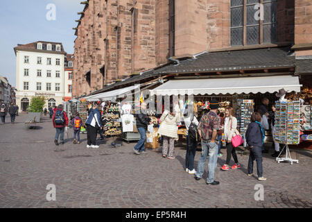 tourists shopping for souvenirs on the marktplatz heidelberg stock photo 82491566 alamy. Black Bedroom Furniture Sets. Home Design Ideas