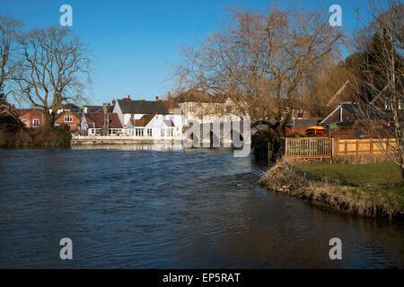 Bridge over the River Avon at Fordingbridge - Stock Photo