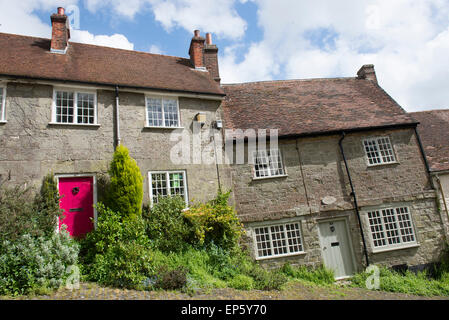 Gold Hill in Shaftesbury, Dorset England UK - Stock Photo